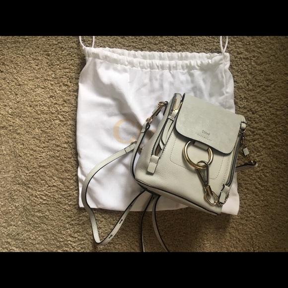 f7f747fea1e Chloe Bags | Mini Faye Backpack Color Airy Grey | Poshmark